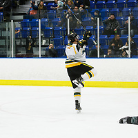 5th year forward Ian McNulty (14) of the Regina Cougars in action during the Men's Hockey Shine On Game on December 2 at Co-operators arena. Credit: Arthur Ward/Arthur Images