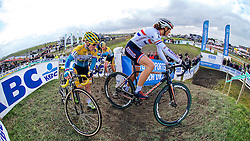Pavla Havlikova (CZE) and Helen Wyman (GBR), Women Elite, Cyclo-cross Superprestige #8 Middelkerke, Belgium, 14 February 2015, Photo by Paul Burgoine / PelotonPhotos.com