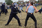Jeremy Deller's re-enactment of the Battle of Orgreave, film for Channel 4 directed by Mike Figgis and produced by Artangel...&copy; Martin Jenkinson Image Library<br />