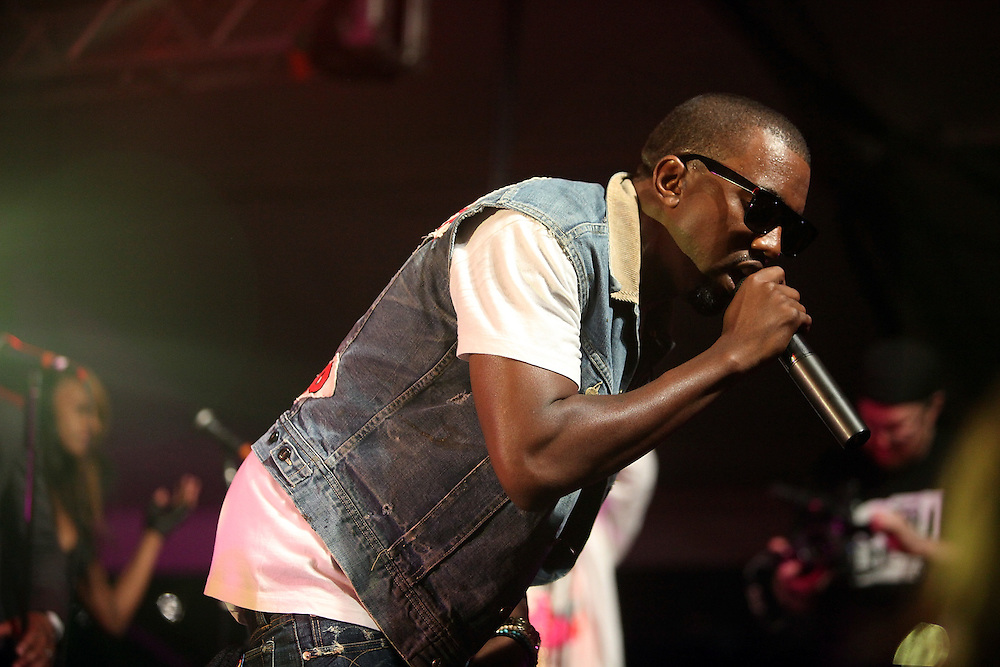 AUSTIN, TX - MARCH 21: Kanye West performs onstage at the 'G.O.O.D Music Showcase' at Levi's/Fader Fort on March 21, 2009 in Austin, Texas.