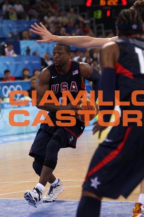 DESCRIZIONE : Beijing Pechino Olympic Games Olimpiadi 2008 Final Gold Medal 1-2 posto place Spain Usa <br /> GIOCATORE : Dwyane Wade <br /> SQUADRA : Usa <br /> EVENTO : Olympic Games Olimpiadi 2008 <br /> GARA : Spagna Usa <br /> DATA : 24/08/2008 <br /> CATEGORIA : Penetrazione <br /> SPORT : Pallacanestro <br /> AUTORE : Agenzia Ciamillo-Castoria/E.Castoria <br /> Galleria : Beijing Pechino Olympic Games Olimpiadi 2008 <br /> Fotonotizia : Beijing Pechino Olympic Games Olimpiadi 2008 Final Gold Medal 1-2 posto place Spain Usa <br /> Predefinita :