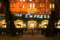 Empress Hotel Entrance at Night, Victoria, BC