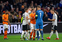 24-03-2019 NED: UEFA Euro 2020 qualification Netherlands - Germany, Amsterdam<br /> Netherlands lost the match 3-2 in the last minute / Frenky de Jong #21 of The Netherlands, Toni Kroos #8 of Germany, goalkeeper Manuel Neuer #1 of Germany, Joshua Kimmich #6 of Germany