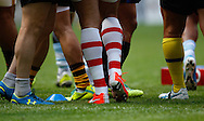The Barbarians maintain their tradition of wearing club socks during the International Test Match match at Twickenham Stadium, Twickenham<br /> Picture by Andrew Tobin/Focus Images Ltd +44 7710 761829<br /> 01/06/2014