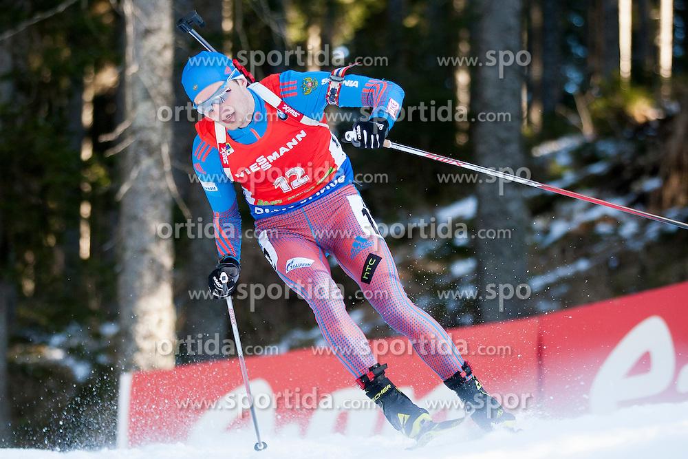 Maxim Tsvetkov (RUS) competes during Men 12,5 km Pursuit at day 3 of IBU Biathlon World Cup 2015/16 Pokljuka, on December 19, 2015 in Rudno polje, Pokljuka, Slovenia. Photo by Urban Urbanc / Sportida