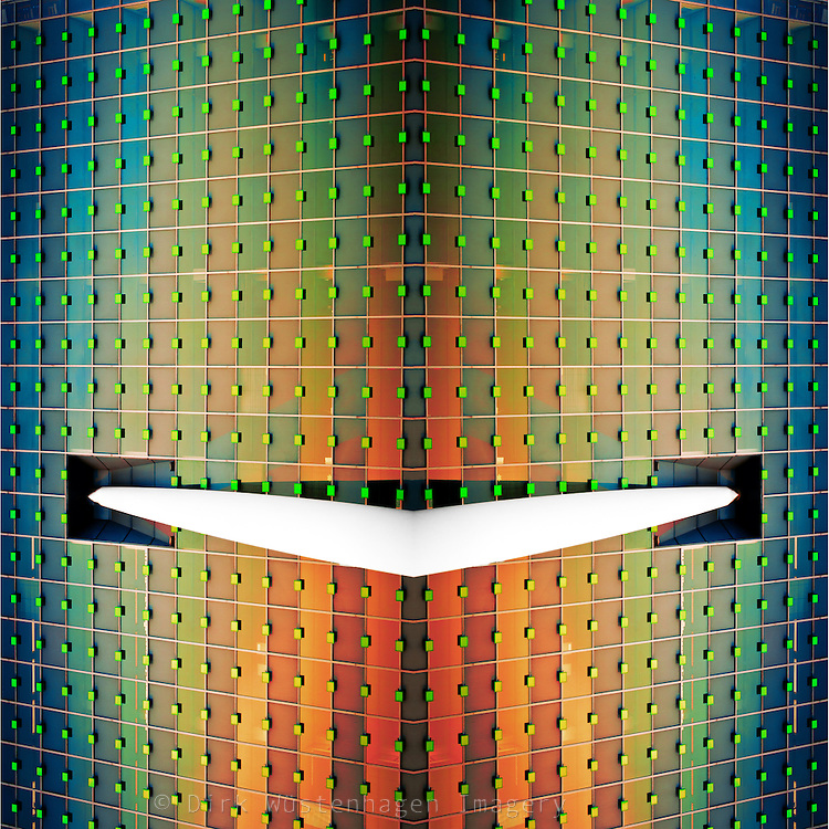 Colorful abstraction of a building in Rotterdam/Netherlands<br /> <br /> Prints: http://society6.com/DirkWuestenhagenImagery/abstract-architecture-IV_Print