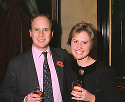 MR & MRS RANDOLPH CHURCHILL son of Winston Churchill MP at a party in London on 3rd November 1997.MCU 11