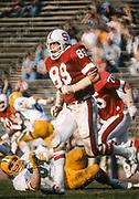 COLLEGE FOOTBALL:  Stanford vs Oregon on November 10, 1979 at Stanford Stadium in Palo Alto, California.  Chuck Evans #89.  Photograph by David Madison (www.davidmadison.com).