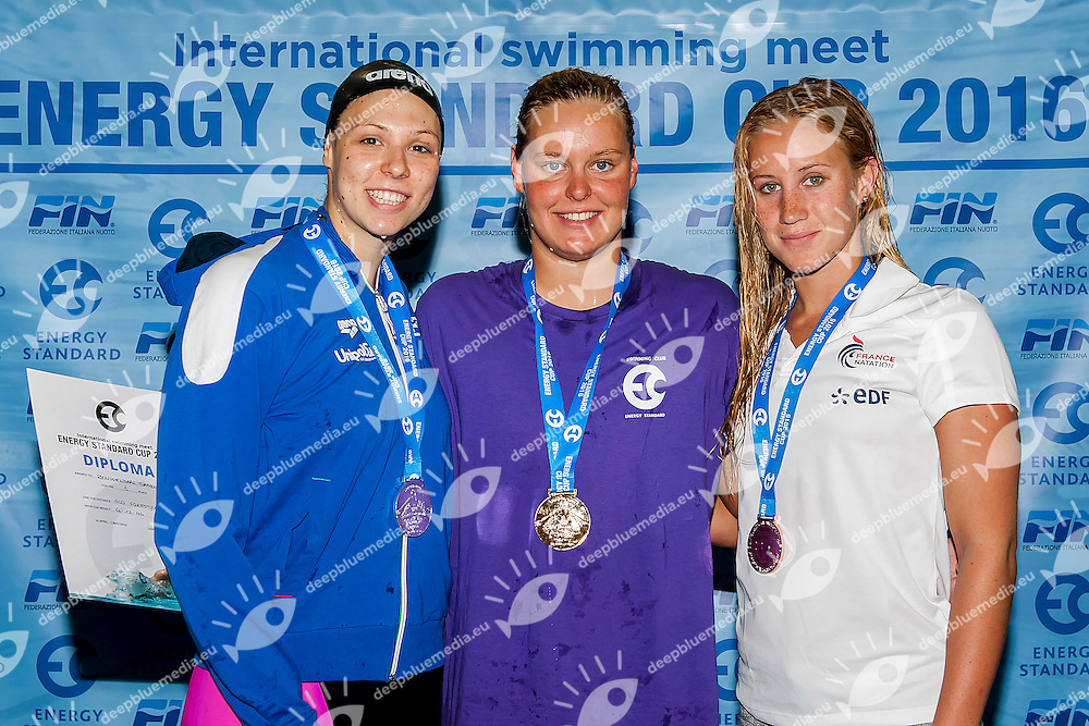 Medals Ceremony<br /> 400m Freestyle - Open Women<br /> Energy Standard Cup 2016<br /> Ge.Tur Complex - Lignano Sabbiadoro (UD)<br /> 30 Aprile-1 May 2016<br /> Photo A.Masini/Deepbluemedia