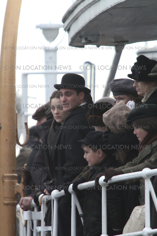"Marion Cotillard and Joaquin Phoenix on the set of the  ""Lowlife"" in New York City February 22nd 2012 Non Exclusive. Photo Sales Contact: Eric Ford/ On Location News 1/818-613-3955 info@onlocationnews.com"