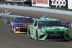 August 5, 2018 - Watkins Glen, New York, United States of America - Kyle Busch (18) brings his car through the turns during the Go Bowling at The Glen at Watkins Glen International in Watkins Glen , New York. (Credit Image: © Chris Owens Asp Inc/ASP via ZUMA Wire)