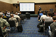 Lennart Frantzell presents for IBM at Collision 2018; New Orleans Morial Convention Center