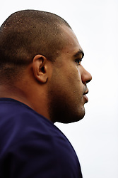 Kyle Sinckler looks on as Bristol Bears start to use their new almost completed Training centre - Rogan/JMP - 08/07/2020 - RUGBY UNION - Beggar Bush Lane - Bristol, England.