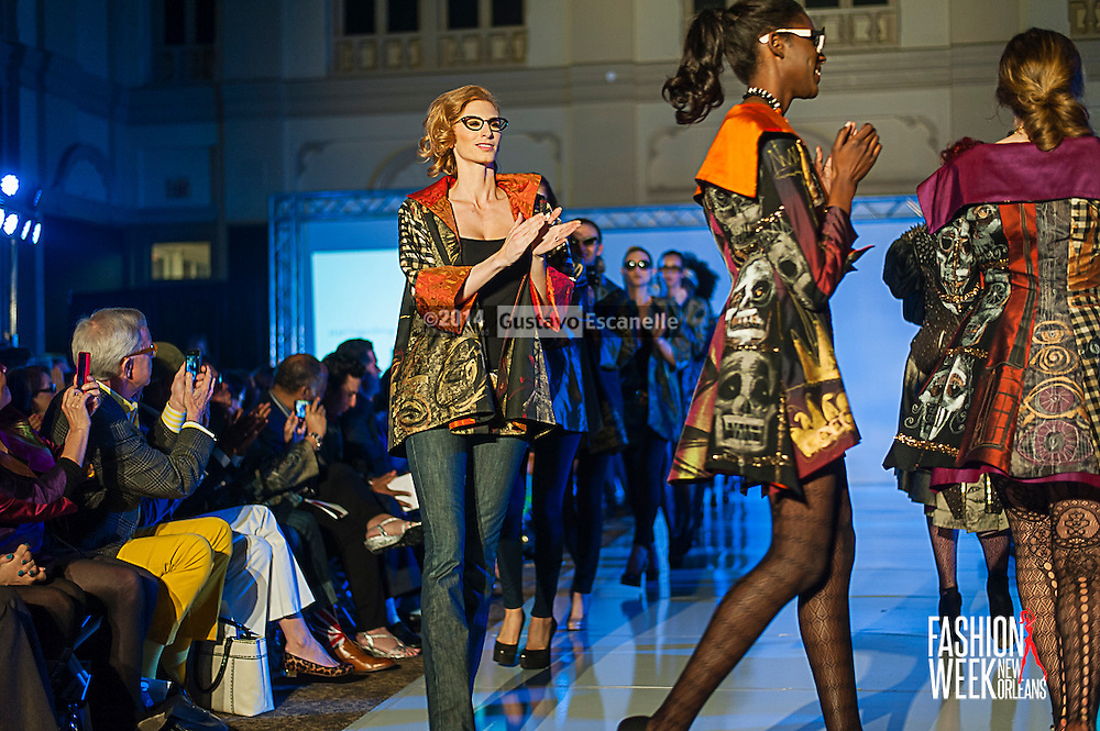 FASHION WEEK NEW ORLEANS: Starr Hagenbring show case her design on the runway at the Board of Trade, Fashion Week New Orleans on Friday March 21. 2014. #FWNOLA, #FashionWeekNOLA, #Design #FashionWeekNewOrleans, #NOLA, #Fashion #BoardofTrade, #GustavoEscanelle, #TraceeDundas , #Starr Hagenbring, #Designer. View more photos at http://Gustavo.photoshelter.com or <br /> http://fashionweeknola.com