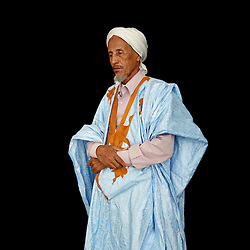 Portrait of Hademine Ely, religious leader, Mauritania. <br />
