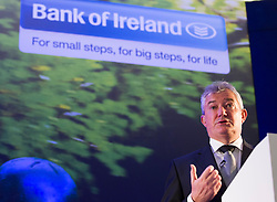24/05/2013 Richie Boucher, Group Chief Executive, Bank of Ireland, is pictured speaking at the Bank's conference opened by An Taoiseach, Enda Kenny, T.D. and the theme of the event was 'Building Business Momentum'. Attended by approximately 800 SMEs from the Dublin region, it looked at future growth across key sectors in the Irish economy and marked the conclusion of a series of business events nationwide as part of Bank of Ireland's 8th National Enterprise Week..Other speakers at the event included Pat McCann, Chief Executive, Dalata Hotel Group, Eleanor Nash, Group Head of Human Resources, Eason and Son Ltd., Oliver Tattan, CEO, Insurance Regulatory Capital, Professor Peter Cooke, Professor of Automotive Management, The University of Buckingham,  Mark FitzGerald, Chief Executive,  Sherry FitzGerald Group and Kingsley Aikins, Principal, Diaspora Matters. Picture Andres Poveda