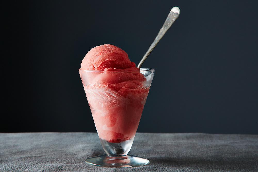 Rhubarb Strawberry Ginger Sorbet