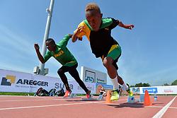 02/08/2017; Thomas, Tevaughn Kevin, T46, JAM, Brown, Jason Dennis, T12, Training at 2017 World Para Athletics Junior Championships, Nottwil, Switzerland