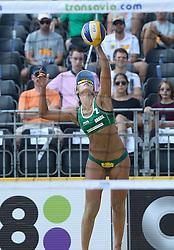 17-07-2014 NED: FIVB Grand Slam Beach Volleybal, Apeldoorn<br /> Poule fase groep G vrouwen - Barbara Seixas De Freitas (2) BRA