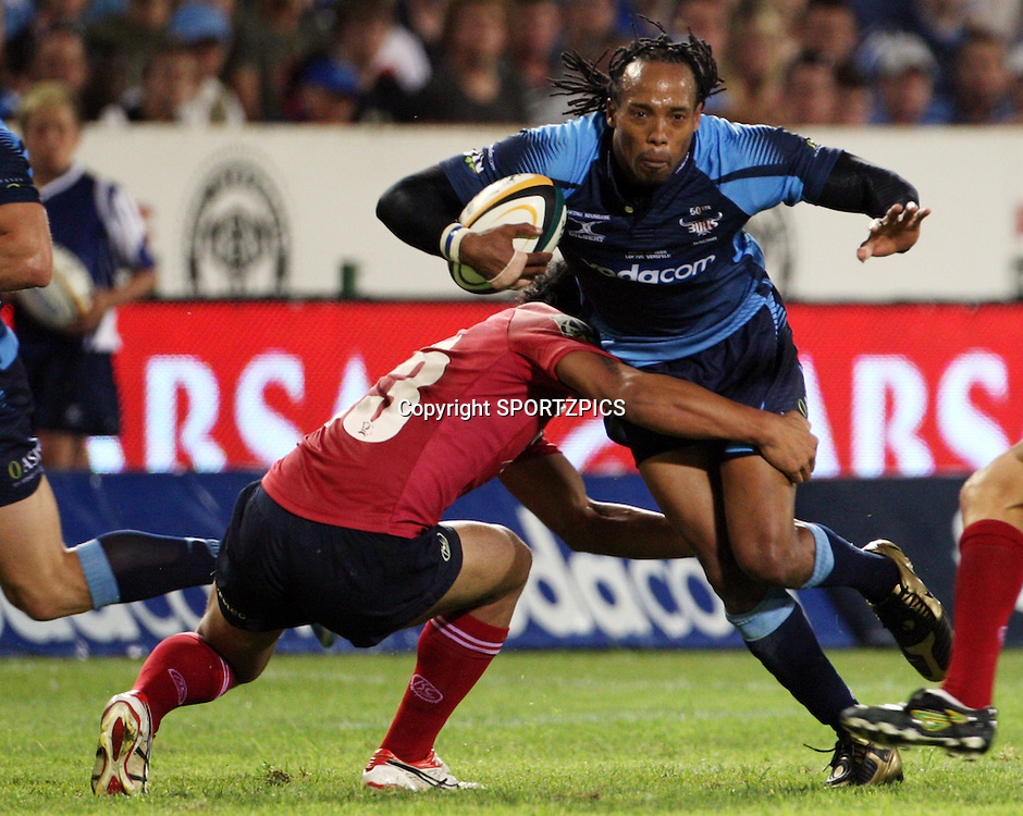 PRETORIA, South Africa, Akona Ndungane during the Super 14 match between the Bulls and the Reds held at Loftus Versfeld in Pretoria on the 14 February 2009..Photo By Barry Aldworth/ SPORTZPICS