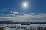 The first solar eclipse in Norway since 1954. Solformørkelsen sett over Selbusjøen i Sør-Trøndelag.