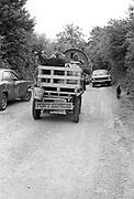Pony Express cart, Glastonbury, Somerset, 1989