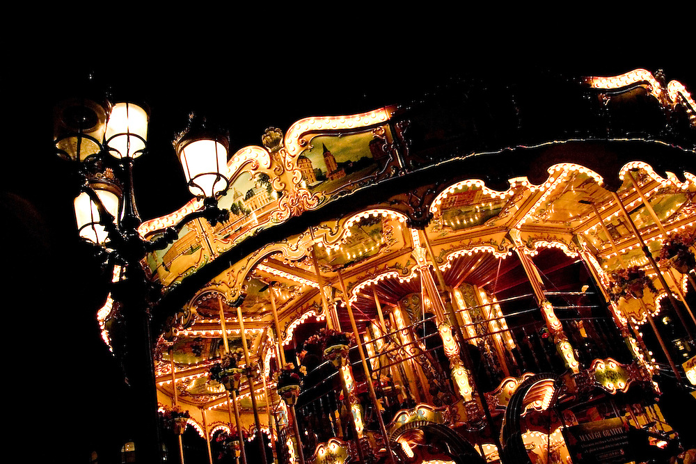 Carousel outside Hotel de Ville, Paris, France