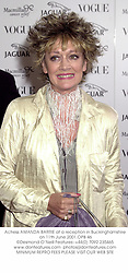 Actress AMANDA BARRIE at a reception in Buckinghamshire on 11th June 2001.	OPB 46