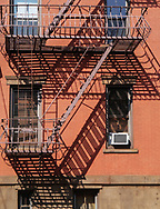 Fire escapes in Hoboken