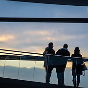 People in the Reichstag dome