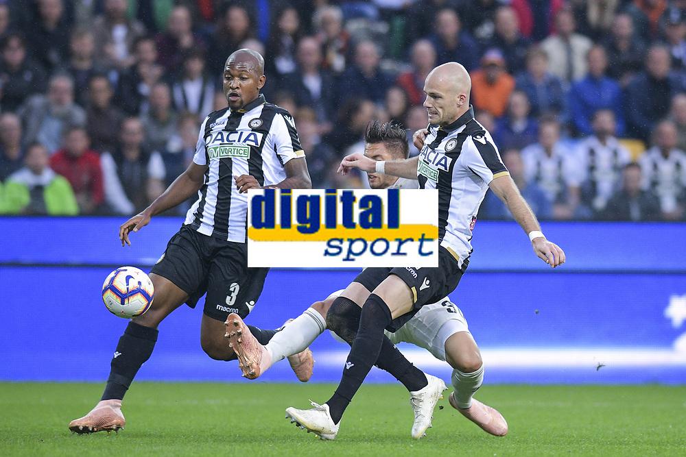 Rodrigo Betancourt  Bram Nuytinck, Samir<br /> Udine 06-10-2018 Stadio Friuli Football Calcio Serie A 2018/2019 Udinese - Juventus<br /> Foto Federico Tardito / OnePlusNine / Insidefoto