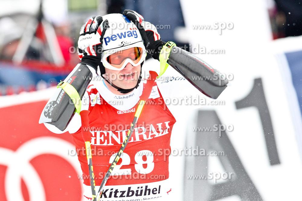 25.01.2013, Streif, Kitzbuehel, AUT, FIS Weltcup Ski Alpin, Abfahrt, Herren, Super G, im Bild Romed Baumann (AUT) // Romed Baumann of Austria // during mens SuperG ..of the FIS Ski Alpine World Cup at the Streif course, Kitzbuehel, Austria on 2013/01/25. EXPA Pictures © 2013, PhotoCredit: EXPA/ Markus Casna