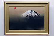 Photo shows one of Taikan Yokoyama's Mt. Fuji scenes series at the Adachi Museum of Art in Yasugi, Shimane Prefecture, Japan..Photographer: Robert Gilhooly