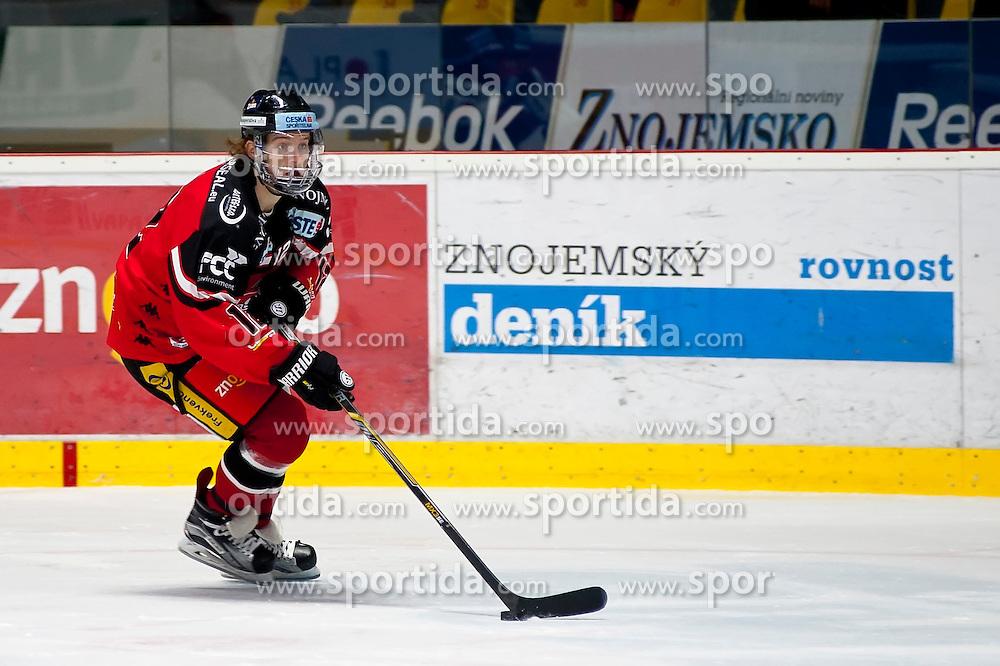 04.10.2015, Ice Rink, Znojmo, CZE, EBEL, HC Orli Znojmo vs HDD TELEMACH Olimpija Ljubljana, 8. Runde, im Bild Radek Cip (HC Orli Znojmo) // during the Erste Bank Icehockey League 8th round match between HC Orli Znojmo and Moser Medical Graz 99ers at the Ice Rink in Znojmo, Czech Republic on 2015/10/04. EXPA Pictures © 2015, PhotoCredit: EXPA/ Rostislav Pfeffer