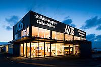 Verslun AXIS að smiðjuvegi 9, Kópavogi. Axis framleiðir innréttingar, fataskápa og skrifstofuhúsgögn.
