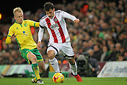 Brentford defender Maxime Colin (2) goes forward during the EFL Sky Bet Championship match between Norwich City and Brentford at Carrow Road, Norwich, England on 3 December 2016. Photo by Nigel Cole.