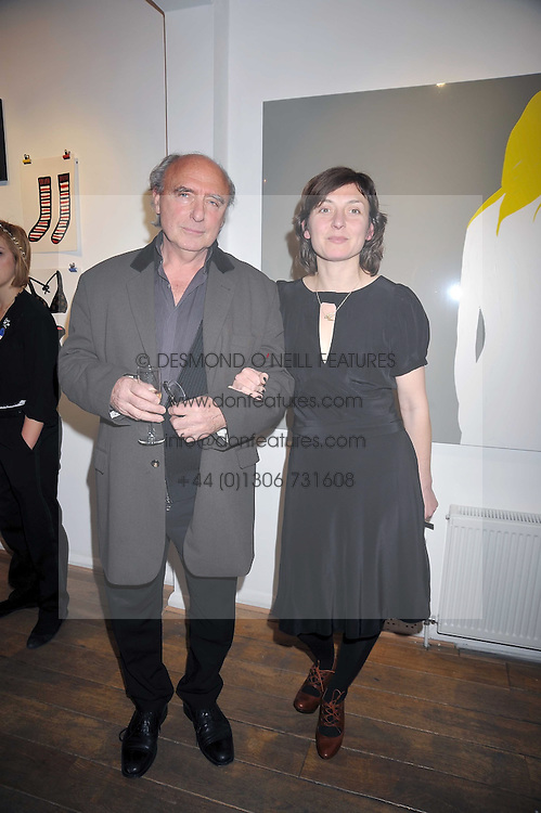 Artist NATASHA LAW and her father PETER LAW at a private view entitled 'No Love Lost' by artists Daisy de Villeneuve and Natasha Law held at Eleven, 11 Eccleston Street, London SW1 on 31st March 2009.