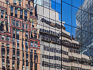 Reflections of Fifth Avenue in Midtown Manhattan