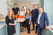 17 September 2019: KCOM have launched a partnership with the Kexgill Group, providing all their student accommodation with Lightstream.<br /> Pictured is (l-r) are Kate Stancer (Kexgill), Elliot Becker (Kexgill), Medical Students Anna Green and Molly Britton, Alan Worthing (KCOM) and Richard Stott (MD Kexgill). <br /> Picture: Sean Spencer/Hull News & Pictures Ltd<br /> 01482 210267/07976 433960<br /> www.hullnews.co.uk         sean@hullnews.co.uk