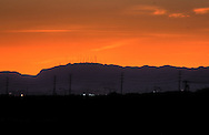 South Mountain silhouetted by a sunset