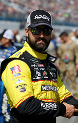 October 14, 2018 - Talladega, AL, U.S. - TALLADEGA, AL - OCTOBER 14: #21: Paul Menard, Wood Brothers Racing, Ford Fusion Menards / Dutch Boy during the runinng of the 1000Bulbs.com500 on Sunday October 14, 2018 at Talladega SuperSpeedway in Talladega Alabama (Photo by Jeff Robinson/Icon Sportswire) (Credit Image: © Jeff Robinson/Icon SMI via ZUMA Press)