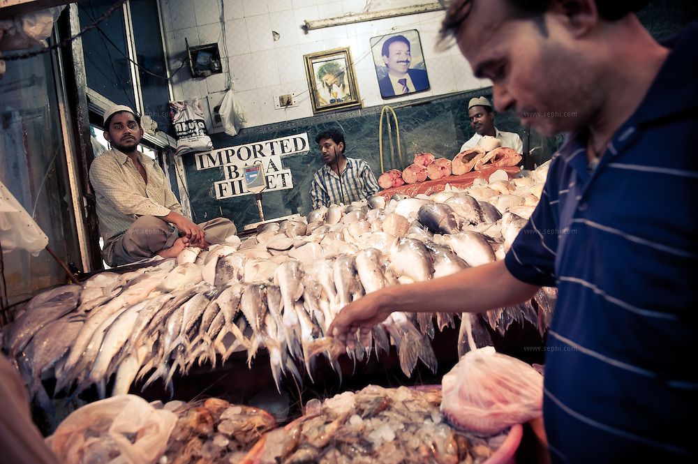 fresh fish for sale at INA market New Delhi