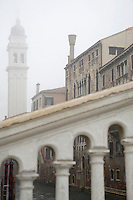 Italy Venice on foggy day