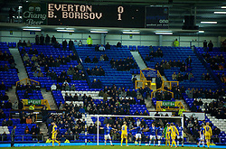 LIVERPOOL, ENGLAND - Thursday, December 17, 2009: The scoreboard records Everton 1-0 defeat to FC BATE Borisov during the UEFA Europa League Group I match at Goodison Park. (Pic by David Rawcliffe/Propaganda)