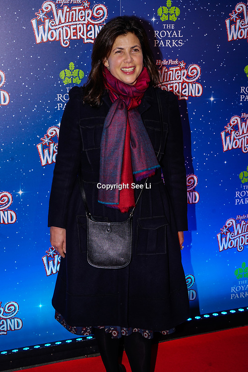 London, England, UK. 16th November 2017. Kirstie Allsopp is a TV Presenter attend the VIP launch of Hyde Park Winter Wonderland 2017 for a preview. tomorrow is opening for the public