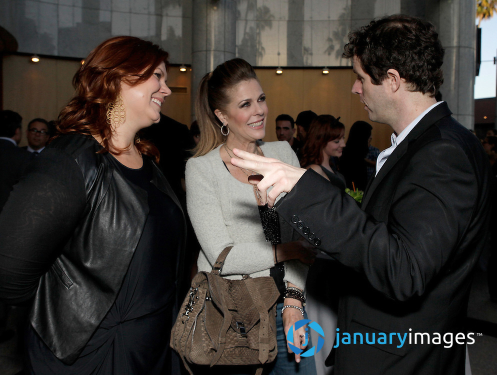 """BEVERLY HILLS, CA - JUNE 06:  Producer Kara Baker, Rita Wilson and Director Gavin Wiesen attend a Fox Searchlight screening Of """"The Art Of Getting By"""" at Clarity Theater on June 6, 2011 in Beverly Hills, California.  (Photo by Todd Williamson/WireImage)"""
