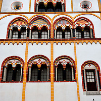 Colorful Moorish Dreikönigenhaus in Trier, Germany <br />