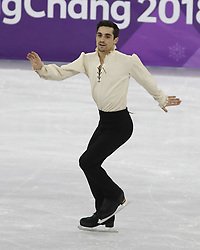 February 17, 2018 - Pyeongchang, KOREA - Javier Fernandez of Spain competes in the men's figure skating free skate program during the Pyeongchang 2018 Olympic Winter Games at Gangneung Ice Arena. (Credit Image: © David McIntyre via ZUMA Wire)