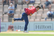 Shane Snater of Essex bowling during the Royal London One Day Cup match between Hampshire County Cricket Club and Essex County Cricket Club at the Ageas Bowl, Southampton, United Kingdom on 23 May 2018. Picture by Dave Vokes.