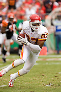 KANSAS CITY, MO - SEPTEMBER 10:  Running back Larry Johnson #37 of the Kansas City Chiefs runs with the ball during a game against the Cincinnati Bengals on September 10, 2006 at Arrowhead Stadium in Kansas City, Missouri.  The Bengals won 23 to 10.  (Photo by Wesley Hitt/Getty Images)***Local Caption***Larry Johnson
